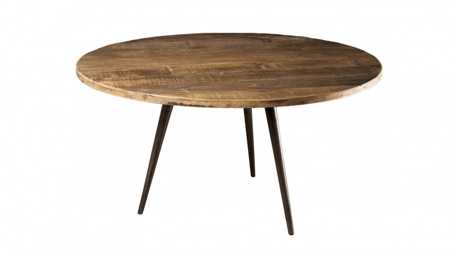 Table basse 75x75cm en teck recyclé et métal - Collection Sixtine