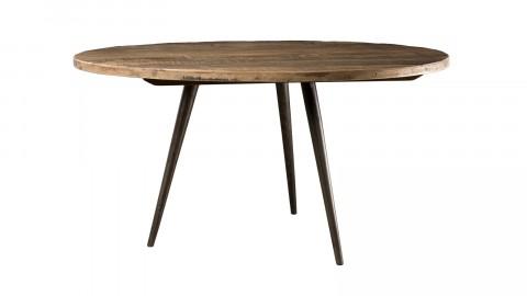 Table basse 75x75cm en teck recyclé et métal - Collection Sixtine
