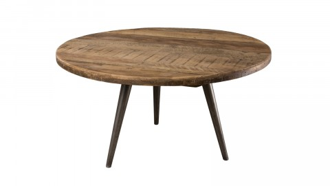 Table basse d'appoint en teck recyclé et métal - Collection Athena