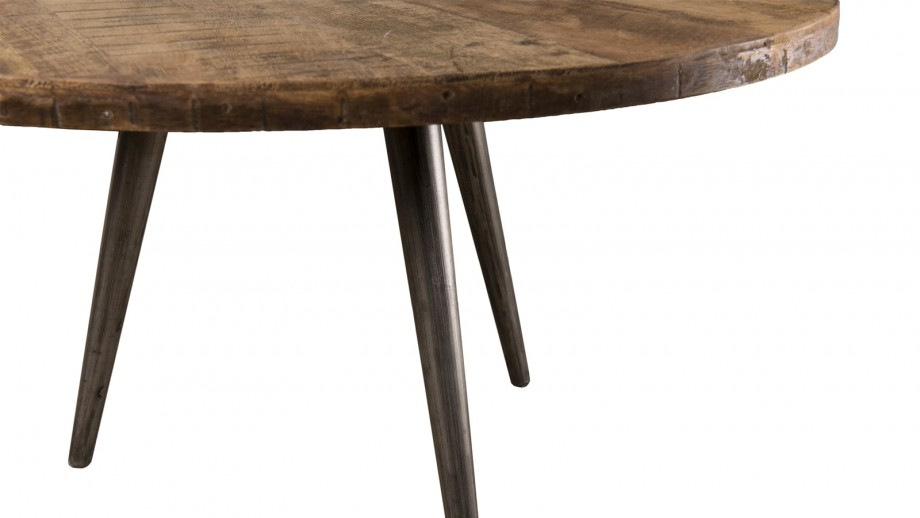 Table basse d'appoint en teck recyclé et métal - Collection Sixtine