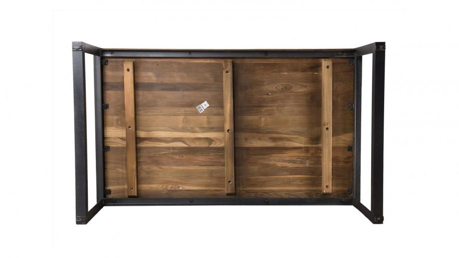 Table basse rectangulaire en teck recyclé piètement métal - Collection Sixtine