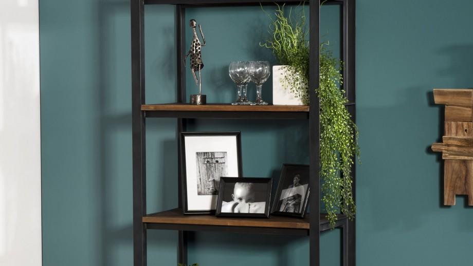 Etagère 5 niveaux en teck recyclé et métal - Collection Sixtine
