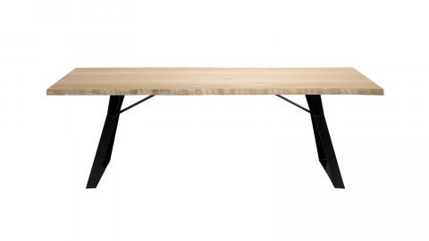 Table à manger 230x100cm en chêne piètement métal noir - Edouard