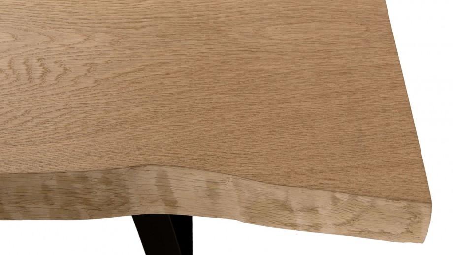 Table à manger 230x100cm en chêne piètement métal noir - Collection Maxence