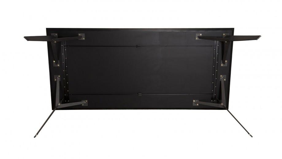 Table à manger 220x100cm en teck recyclé piètement métal noir - Collection Maxence
