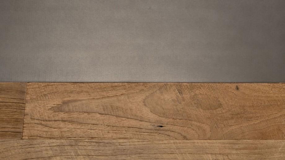 Table basse rectangulaire 140x70cm en teck recyclé teinté piètement en métal noir - Collection Maxence