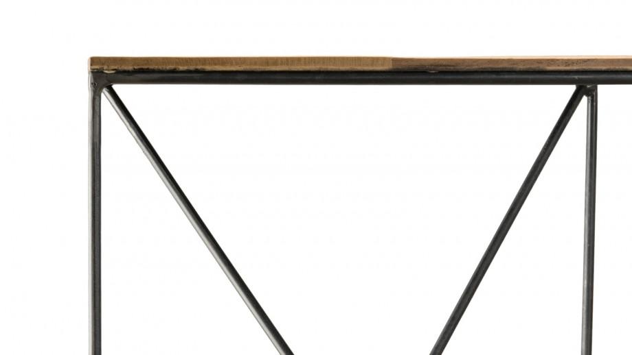 Table d'appoint S en teck recyclé et métal - Collection Maxence