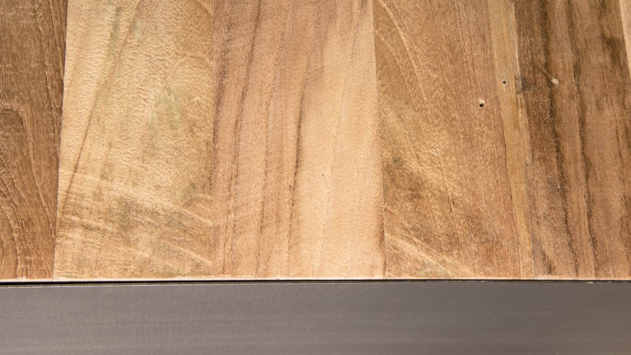 Buffet 3 portes en teck recyclé et métal - Collection Maxence