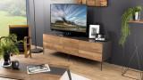 Meuble TV 2 portes 2 tiroir en teck recyclé et métal - Collection Edouard