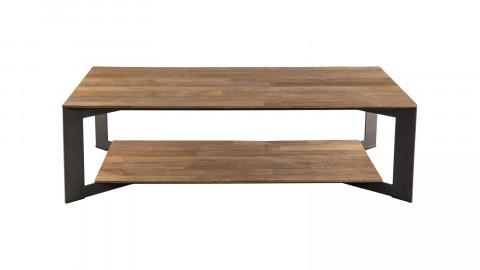 Table basse 120x70 en teck recyclé piètement en métal - Collection Edouard
