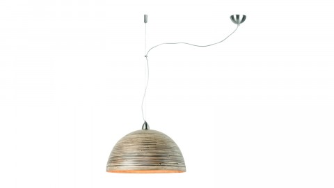 Suspension simple en bambou naturel foncé - Collection Halong - Good&Mojo