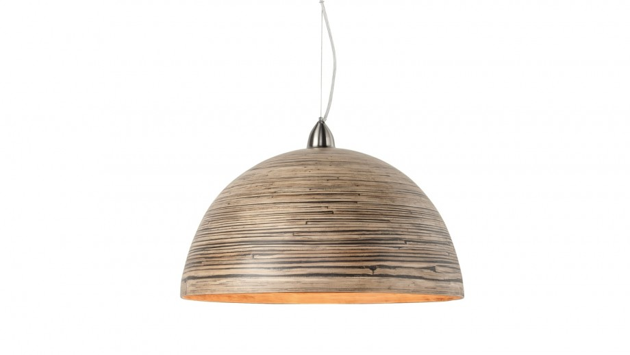 Suspension double en bambou naturel foncé - Collection Halong - Good&Mojo