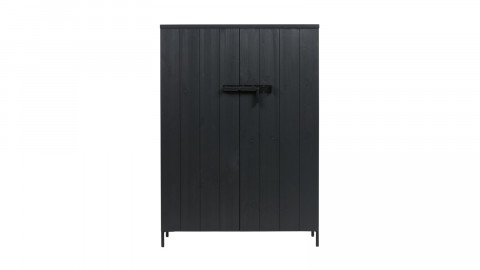 Armoire 2 portes en pin noir - Collection Bruut - Vtwonen
