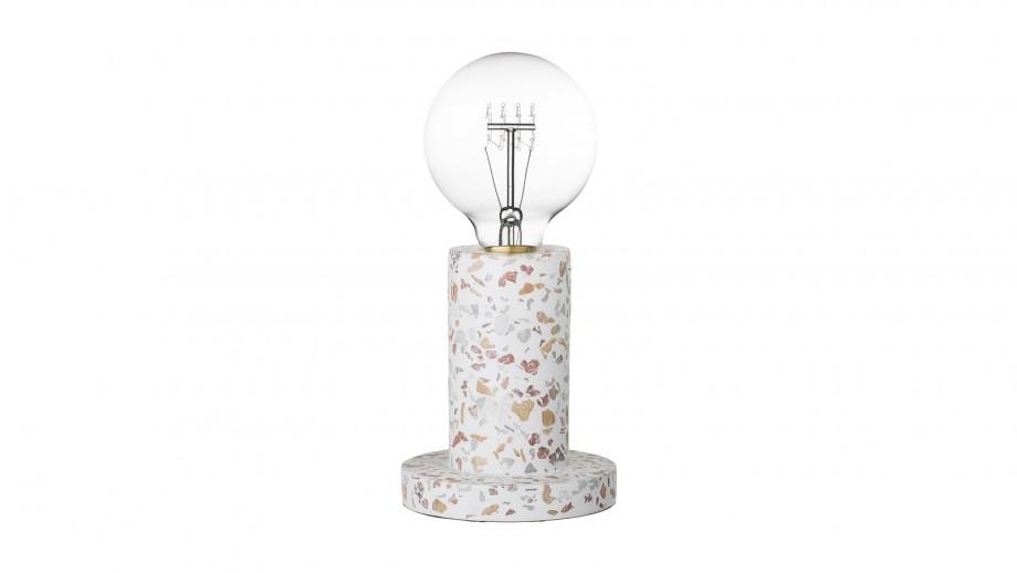 Lampe à poser en béton multicolore - Bloomingville
