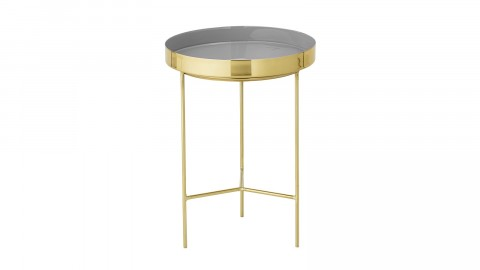 Table d'appoint ronde or et gris - Collection Sola - Bloomingville