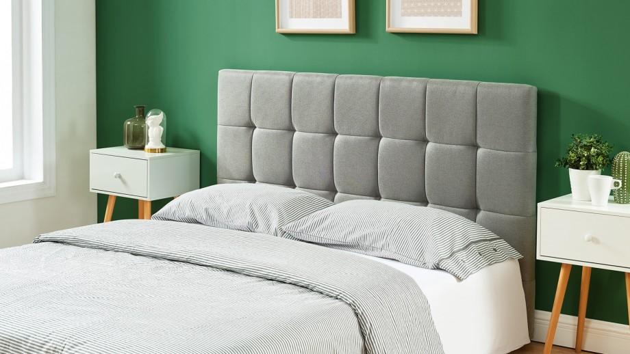 Tête de lit gris clair 160cm - Collection Willy