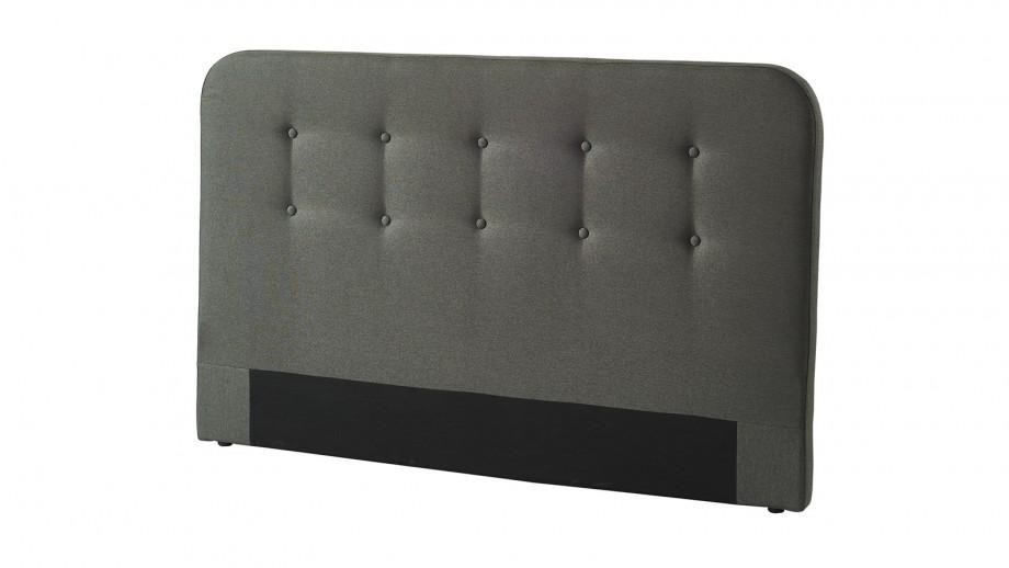 Tête de lit gris foncé 140cm - Collection Sally