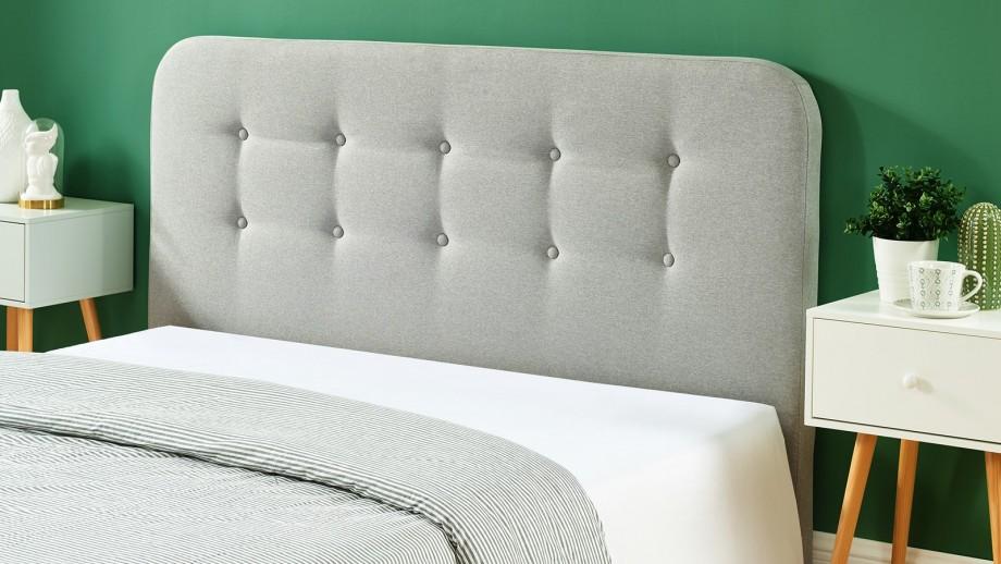 Tête de lit gris clair 160cm - Collection Sally