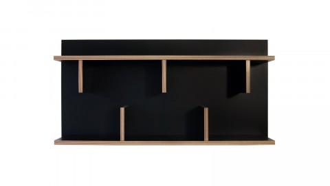 Etagère murale 90cm en bois effet naturel et noir - Collection Bern - Temahome