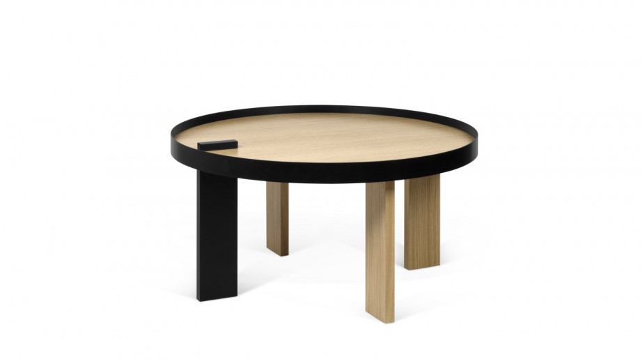 Table basse ronde en bois et métal - Collection Bruno - Temahome