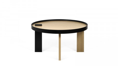 Table basse ronde en bois et métal - Collection Bruno - Temahome