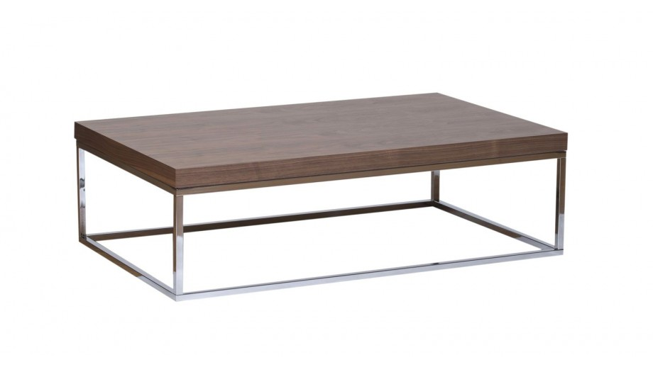 Table basse rectangle piètement chromé - Collection Prairie - Temahome