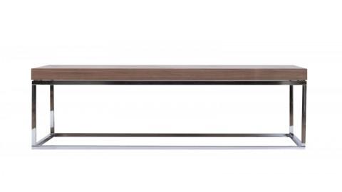 Table basse rectangle piètement chromé - Collection Prairie - Temahome