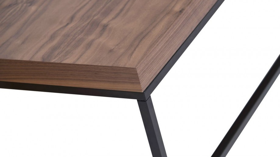 Table basse rectangle piètement en métal noir - Collection Prairie - Temahome