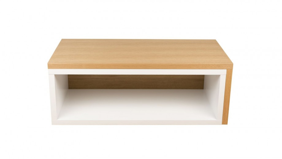 Table basse modulable en contreplaqué clair et blanc - Collection Jazz - Temahome
