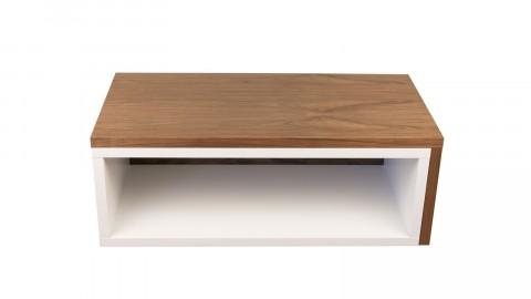 Table basse modulable en contreplaqué noisette et blanc - Collection Jazz - Temahome