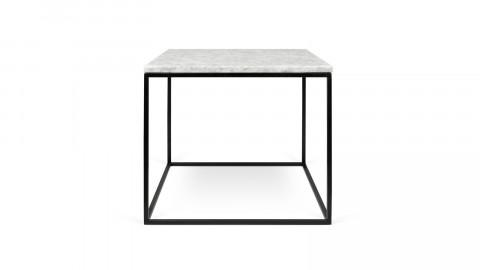 Table basse 50cm en marbre blanc piètement en métal noir - Collection Gleam - Temahome