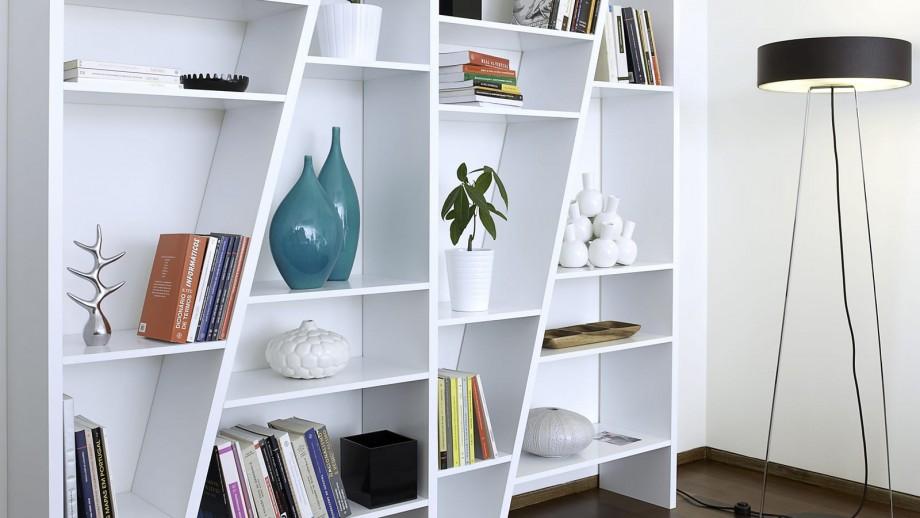 Etagère 4 blocs blanche - Collection Delta - Temahome