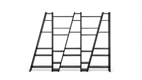 Etagère 5 blocs noire - Collection Delta - Temahome