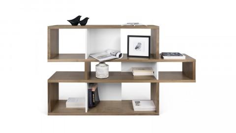 Etagère S en bois foncé et blanc - Collection London - Temahome
