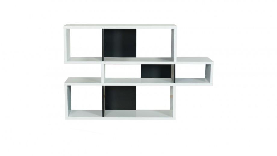 Etagère S en contreplaqué blanc et noir - Collection London - Temahome