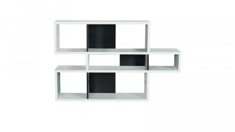 Etagère S en contreplaqué blanc et noir - Collection London - Temahome
