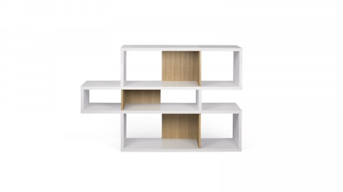 Etagère S en bois blanc et naturel - Collection London - Temahome