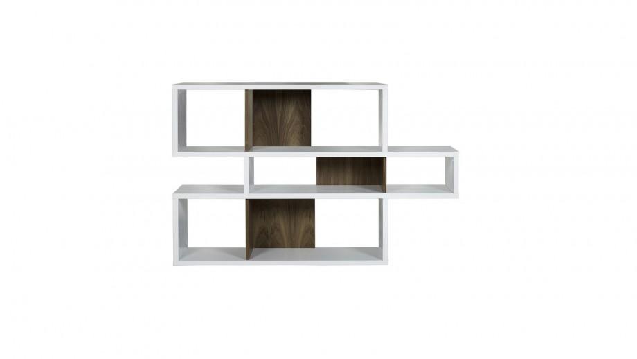 Etagère S en contreplaqué blanc et foncé - Collection London - Temahome