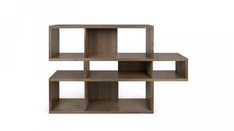 Etagère S en bois foncé et noir - Collection London - Temahome