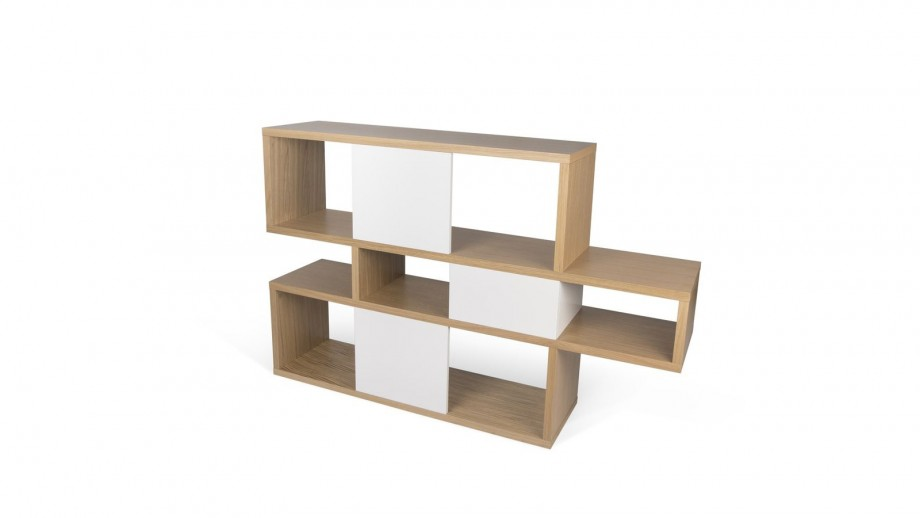 Etagère S en contreplaqué clair et blanc - Collection London - Temahome