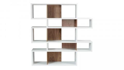 Etagère M en bois blanc et foncé - Collection London - Temahome