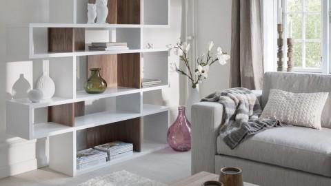 Etagère M en contreplaqué blanc et foncé - Collection London - Temahome