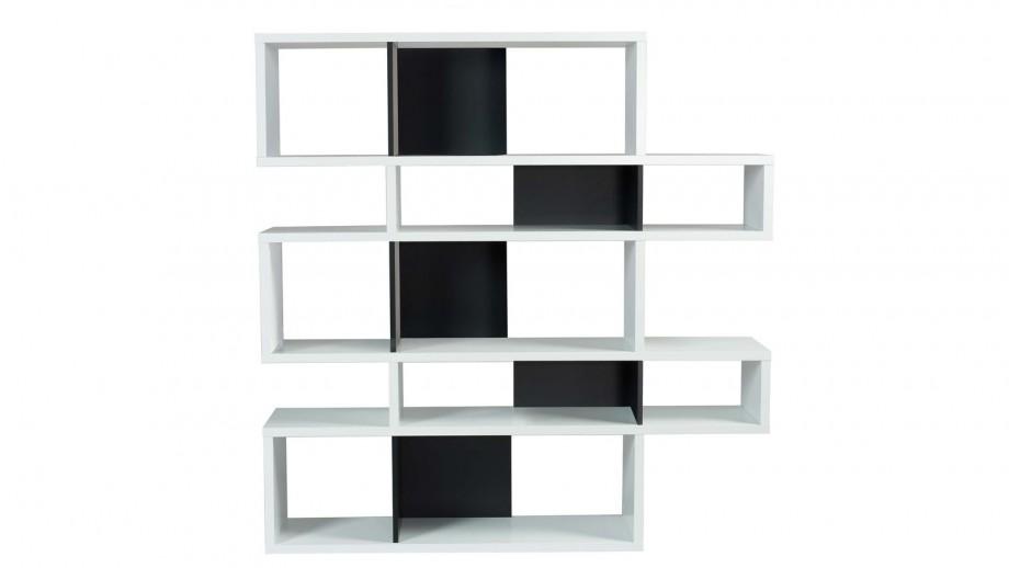 Etagère M en contreplaqué blanc et noir - Collection London - Temahome