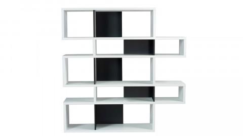 Etagère M en bois blanc et noir - Collection London - Temahome