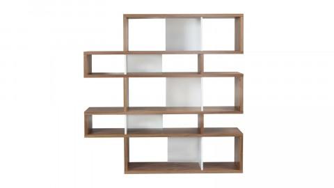 Etagère M en bois foncé et blanc - Collection London - Temahome