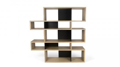 Etagère M en bois naturel et noir - Collection London - Temahome