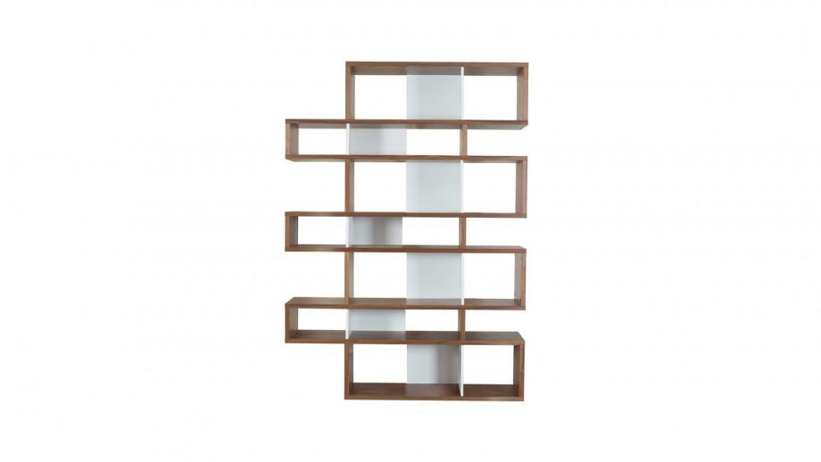 Etagère L en contreplaqué foncé et blanc - Collection London - Temahome