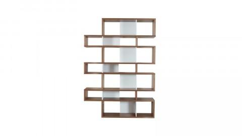 Etagère L en bois foncé et blanc - Collection London - Temahome