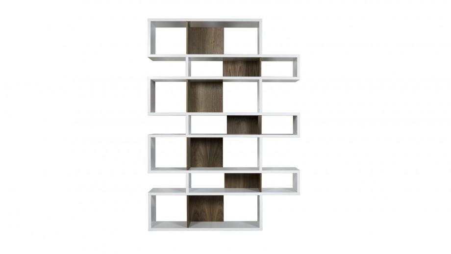 Etagère L en contreplaqué blanc et foncé - Collection London - Temahome