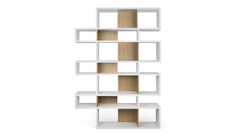 Etagère L en contreplaqué blanc et naturel - Collection London - Temahome